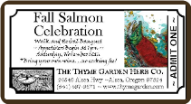 FALL SALMON CELEBRATION  TICKET - SATURDAY  NOV 12 2016